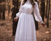 RESERVED///Vintage Wedding Gown Dress (Size Small)