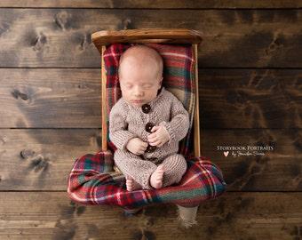 Baby Romper, Onesie with Button Down Front, Newborn Photo Prop,