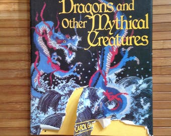 Needlework Book Dragon and other Mythical Creatures by Carol Gault