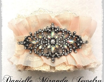 Country Chic Glam Bridal Cuff Bracelet
