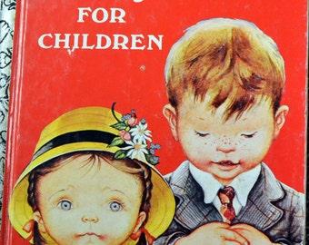 """Vintage Children's Book """"Prayers For Children"""" Little Golden Books   Reading for Children"""