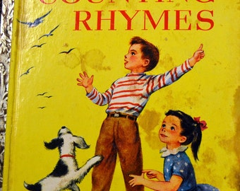 """Vintage Children's Book """"Counting Rhymes"""" Little Golden Book  First Edition Last Minute Gift"""