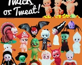 kewpie halloween stickers cute big eye dolly baby boopsiedaisy sticky poos