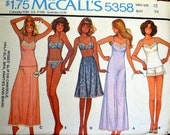 Vintage 1970's Sewing Pattern McCall's 5358 Lingerie and Bikini Bust 34  Complete