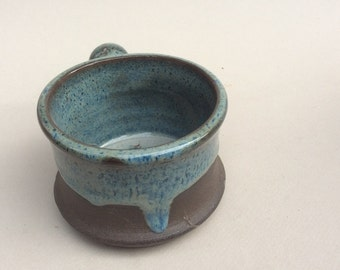 APOTEHCARY/ shaving mug , blue, pottery, ceramic, handmade and ready to ship, A3