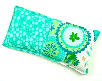 Aromatherapy: Extra Large Eye Pillow Reversible Fabrics Choose Scent Relaxation Yoga Pink Floral Pillow Gift Idea