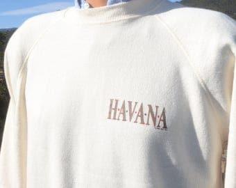 vintage 90s sweatshirt HAVANA movie film redford gambling XL Large raglan 1990