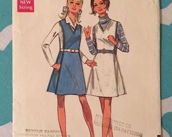 """Vintage 1970's Butterick #5250 Sewing Pattern Size 10, Bust 32.5"""" - OH - 1960s Butterick / 60s Butterick / 1960s Pattern"""