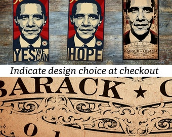 Barack obama president hope change yes we can vintage poster 2008 election presidency artwork