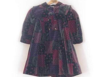 Rothchild Velvet Coat Vintage Coat Little Girl's Winter Coat size 4