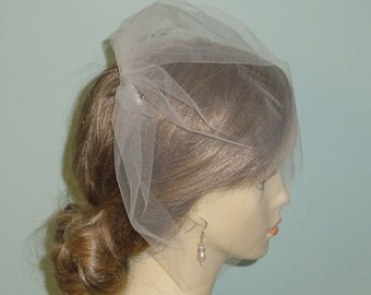 Tulle Birdcage Veil on Metal Comb Made to Order - Ships in 1-2 Weeks