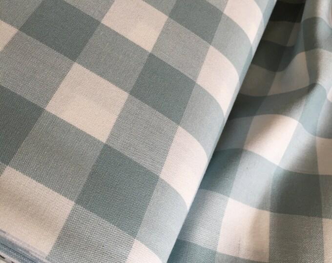"""Plaid Fabric, Plaid Scarf Fabric, DIY Plaid Scarf, Apparel Fabric, Carolina 1"""" Gingham Fabric in Fog by R. Kaufman, Buffalo Plaid"""