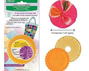 Quick Yo-Yo Maker Large Fabric Notion Clover 8701