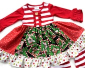 Rudloph Clarice Christmas Holiday dress Momi boutique girl's dress