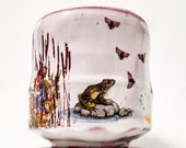 Swamp cup with frog and bugs