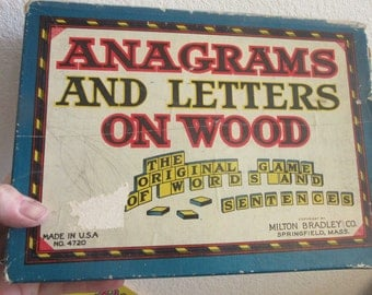 anagrams and letters on wood