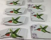 3 1/2 Lbs. Hummingbird  Broken China Tiles & Mosaic Supplies