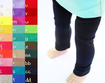 Fits like American Girl Doll Clothes - Leggings, You Choose Color and Length
