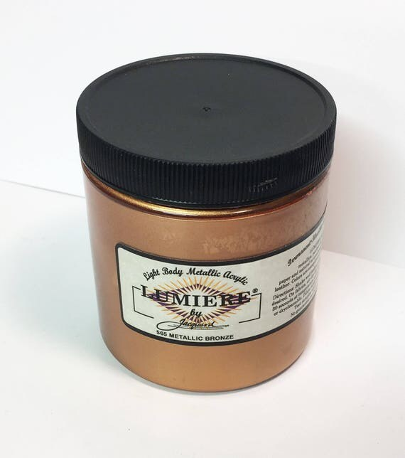 Lumiere Metallic Bronze 565 - 8 oz Size - Brilliant Light Body Metallic Acrylic Paint - Art Craft Fabric Canvas Wood Paper Faux Finish