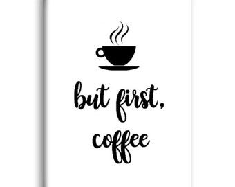 But First Coffee Magnet, Refrigerator Magnet, Kitchen Magnet - RM020