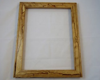 11x14 Spalted Light Curly Beech Picture Frame B4