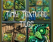 EasterSale Tiny Textured Tiles,  A Polymer Clay PDF Tutorial, Inchie Tiles