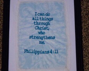 "Scripture Handkerchief-Prayer Cloth ""I Can Do All Things"" - Encouragement Scripture Philippians 4:13"