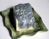 Bamboo Charcoal Goat  Milk Soap - Lemongrass Mint