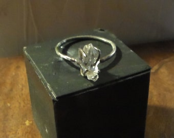 Natural raw rough Diamond Solitaire marquise
