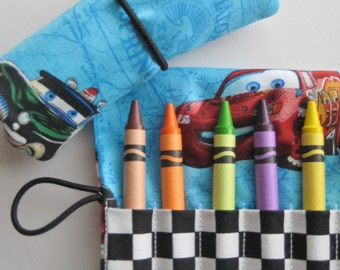 Crayon Roll Wallet Disney Cars Includes 8 Crayons
