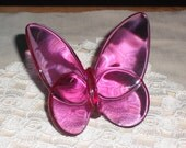 Baccarat Peony Pink Butterfly- Free Shipping
