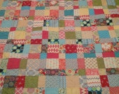 Bright color queen size quilt