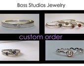 Custom Listing For April - 4 Stone Mothers Ring