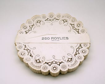 Vintage Roylies Large Doilies Package 250 Made in USA