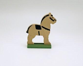 Vintage Miniature Wood Horse Figurine