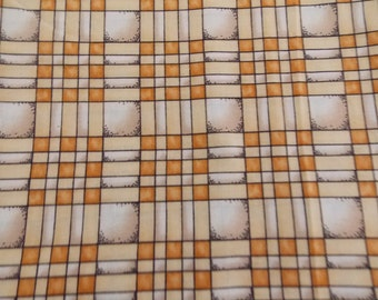 Yellow/Gold Plaid Cotton Quilt Fabric 45 x 46 in button designs by cheri for SSI Sew Supply Crafts