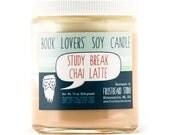 Study Break Chai Latte - Book Lovers' Scented Soy Candle - 8oz jar - Seasonal Item