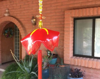 Bell Flower Windchime Orange