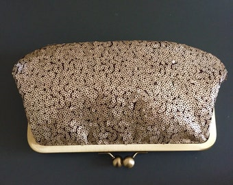 Gold Sequin Clutch