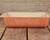 Vintage Pyrex Pink Horizon Space Saver Casserole Dish 575-B 2 Qaurt
