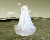 Ivory Wedding Cloak with Train - Medieval Wedding - Renaissance Festival - Costume