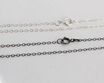 Sterling Silver Necklace 1.3 Cable Necklace