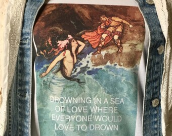 Stevie Nicks ~ Fleetwood Mac ~ t shirt  ~ super soft 100% cotton ~ drowning in a sea of love where everyone would love to drown ~ mermaid