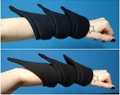 LS-S Longer Spiky Puff Cuffs. Futuristic Armor Bracelet.