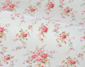 3292 - Cath Kidston Washed Roses (Light Grey) Matt Oilcloth Waterproof Fabric - 28 Inch (Width) x 17 Inch (Length)