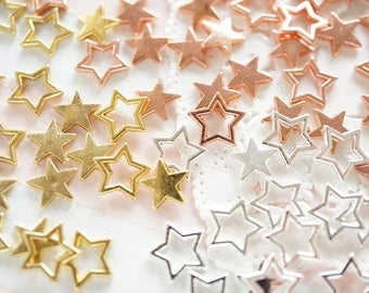25-30 pcs Resin inclusions / inserts / supplies  (8-9mm)  Stars AA042