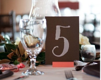 Coral Table Card Holder, Coral Table Number Holder, Coral Wedding (Set of 10)