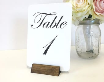 Pyramid Table Number Holder + Rustic Pyramid Table Number Holder  (Set of 10)