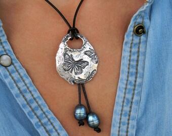 Gypsy Jewelry, Gypsy Necklace, Bohemian Fashion Jewelry, Hippie Fashion Jewelry, Bohemian Necklace, Boho Hippie Necklace Style Butterflies