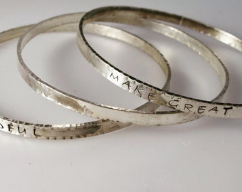 Sterling Inspiration Bangles Make Great Art and Evermindful